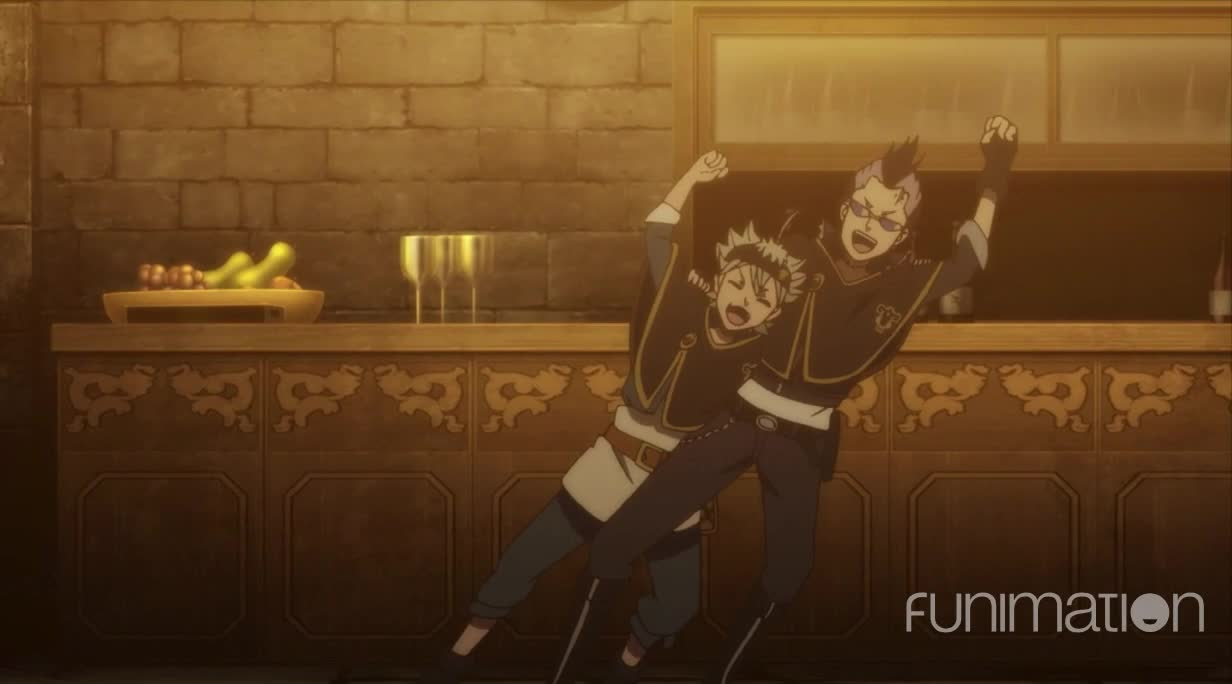 action, anime, black clover, black clover episode 39, funimation, Celebrate together GIFs