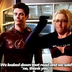 Watch and share Felicity Smoak GIFs and Grant Gustin GIFs on Gfycat