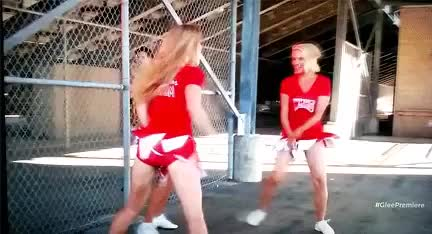 Watch and share Heather Morris And Naya Rivera GIFs on Gfycat