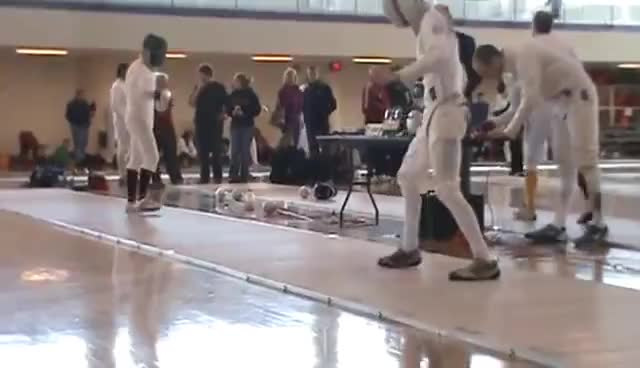 fencing, fencing fall almost epee funny, Fencing GIFs