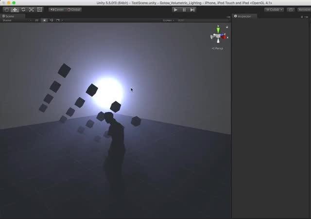Gotow Volumetric Lighting - In Editor GIF | Find, Make