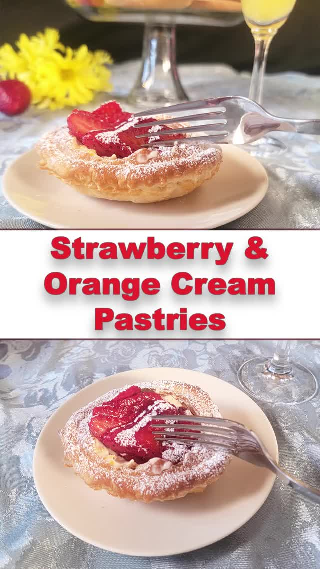 Watch and share Strawberry & Orange Cream Crispy Pastry   Impressive, Quick, Amazing! GIFs by Exceptional Home Cooking on Gfycat