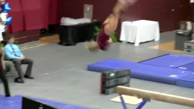 Watch Brittany Johnson Gymnast - Balance Beam Routine GIF on Gfycat. Discover more MerkinMuffly, Sports, StreetFighter GIFs on Gfycat