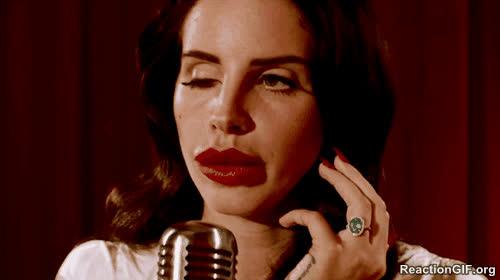 del, dizzy, doll, drunk, eye, eye roll, eyes, hangover, lana, play, rey, roll, scary, wink, Lana del Rey - Wink GIFs