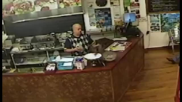 Watch and share New Zealand Kebab Shop Boss Ignores Armed Robber.And Then... GIFs by jhchowdhury on Gfycat