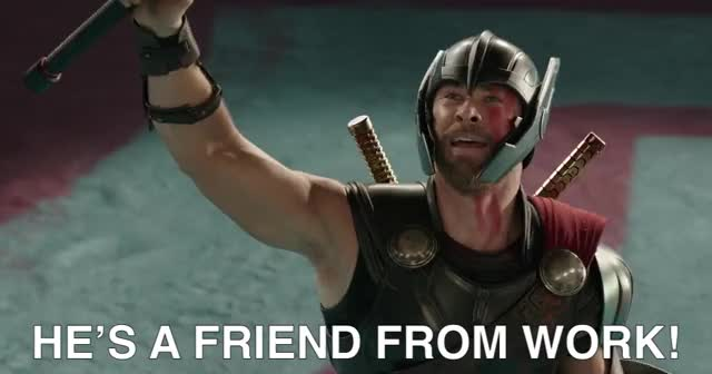 Watch this chris hemsworth GIF by Pakalu Papito (@entfanatic) on Gfycat. Discover more chris hemsworth, colleague, coworker, friend, gif brewery, marvel, movies, thor, thor ragnarkok, thor ragnarok, thor-ragnarok-teaser-trailer-hd, work friend GIFs on Gfycat