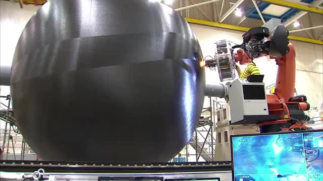 Watch Manufacturing A Large Composite Rocket Fuel Tank GIF by Dave Mosher (@davemosher) on Gfycat. Discover more carbon fiber, fuel tank, nasa, rockets GIFs on Gfycat