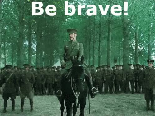 Watch and share Be Brave GIFs on Gfycat