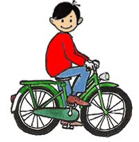 Watch and share Boy Riding Bike animated stickers on Gfycat