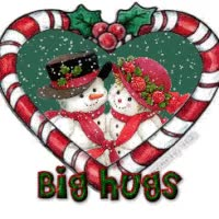 Watch and share Hugs Big Candy Cane Heart Snowmen Snowman Emoticon Emoticons Animated Animation Animations Gif GIFs on Gfycat
