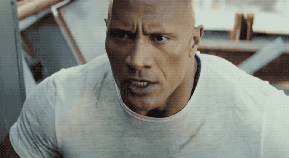 angry, dwayne johnson, loud, mad, no, not, out, pissed, rampage, rock, scream, shout, the, yell, The Rock - No GIFs