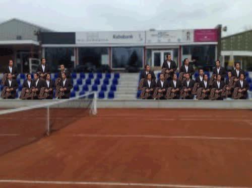 ConfusedTravolta, confusedtravolta, randomactsofgaming, At a tennis game GIFs