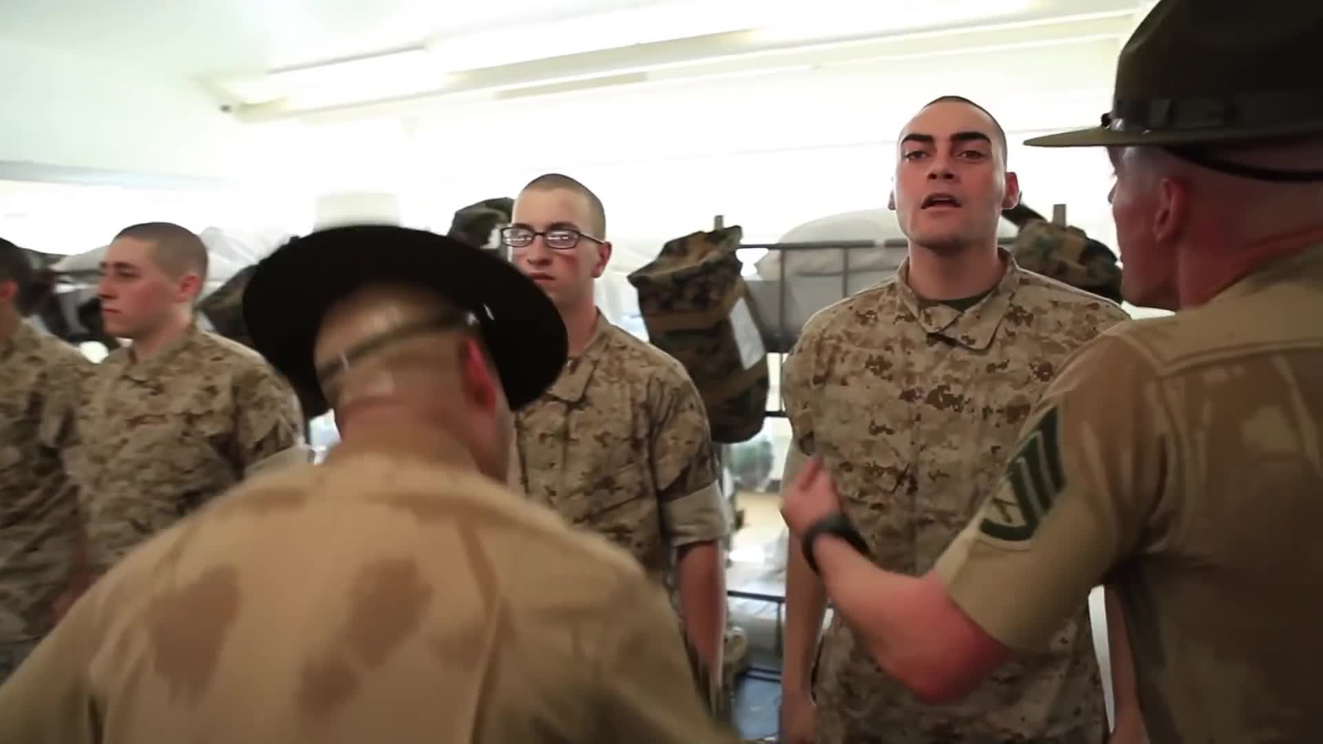 aiirsource military, armed forces, basic training, boot camp, boot camp training, drill instructors, marine corps, marines, military, military exercise, military training, military videos, people & blogs, recruits, us military, usmc, yelling,