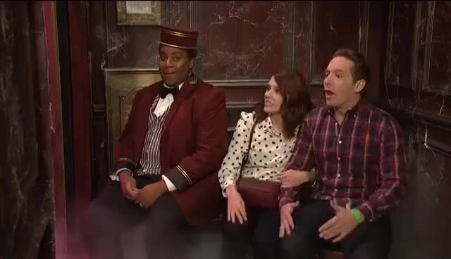 Watch and share Haunted Elevator - SNL GIFs on Gfycat