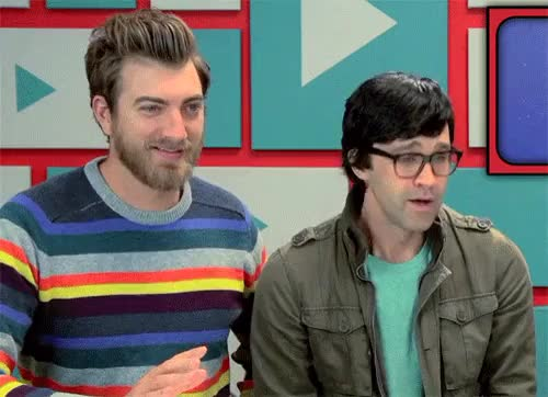 Watch this trending GIF on Gfycat. Discover more gmm, good mythical morning, q, rhett and link, rhettandlink GIFs on Gfycat