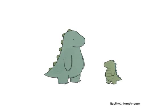 Watch Hi, I'm Liz on We Heart It - http://weheartit.com/entry/4314 GIF on Gfycat. Discover more adorable, adorbs, art, aww, cartoon, cute, design, dino, dino *-*, dinosaur, dinosaurs, dinosour, elevator, father, funny, gif, liz climo, lizclimo, love, playing, son, stairs, tumblr GIFs on Gfycat