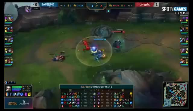 LZ vs SSG Highlights Game 2 LCK Spring 2017 W1D1 Longzhu vs Samsung Galaxy