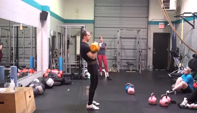 Kettlebell sport: long cycle technique demonstration by Denis Vasiliev GIFs