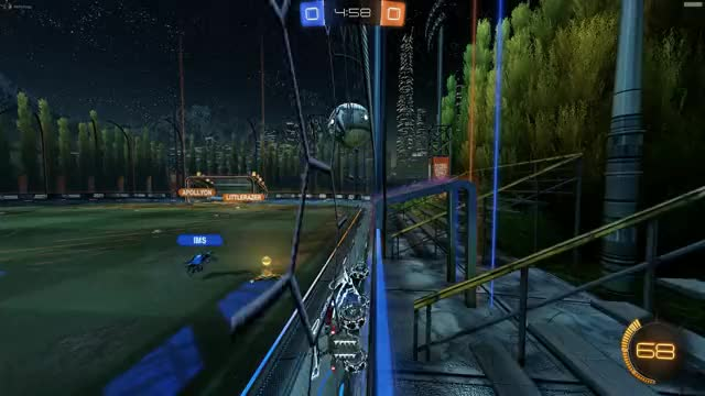 Watch and share Rocket League GIFs and Ceiling Shot GIFs by Mr Pickings Rocket League highlights on Gfycat