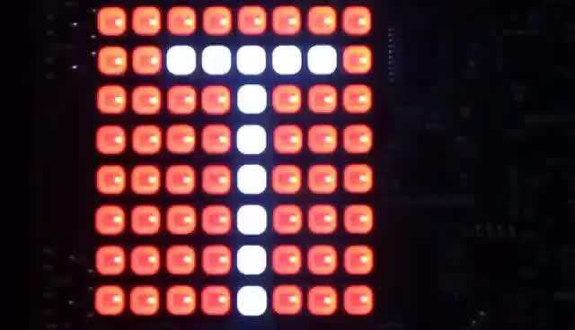 Raspberry Pi Sense HAT Running Weatherstation Software GIFs