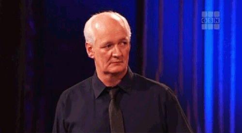 colin mochrie, don'tcare, shrug, whatever, Shrug off the questions GIFs