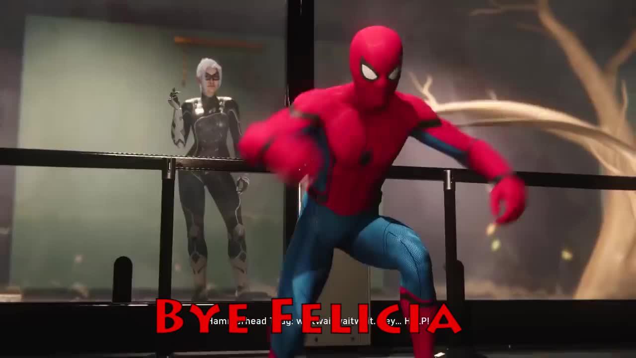 Black, Black Cat, Bye, Bye Felicia, Cat, Felicia, PS4, Spider-Man, Spider-Man PS4, BYE FELICIA GIFs