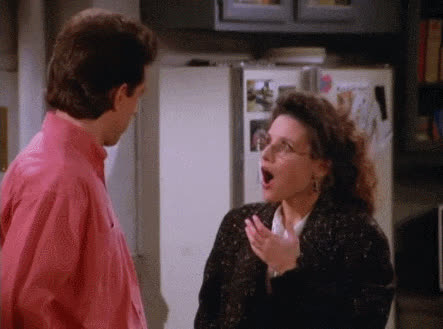 cosmo kramer, elaine benes, george costanza, jason alexander, jerry seinfeld, julia louis-dreyfus, kramer, michael richards, oh my god, oh my gosh, omg, seinfeld, shocked, speechless, wow, speechless, eleaine, seinfeld, surprise GIFs