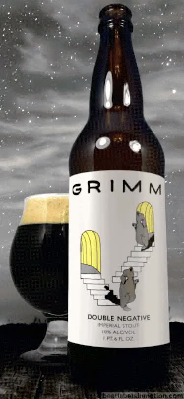 Watch Double Negative is a 10%ABV Imperial Stout brewed by Grimm A GIF on Gfycat. Discover more American double, GIF, animated beer label, animation, beer label, craftbeer, imperial, label, m. c. escher, nighttime, outstanding, stairs GIFs on Gfycat