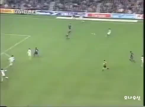 Watch and share BATISTUTA - Fiorentina V Barcelona, 1997 GIFs on Gfycat