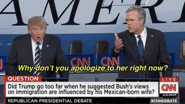 Watch and share Donald Trump GIFs and Jeb Bush GIFs on Gfycat