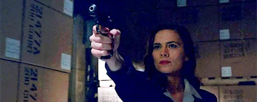 Watch and share Hayley Atwell GIFs and Gun GIFs on Gfycat