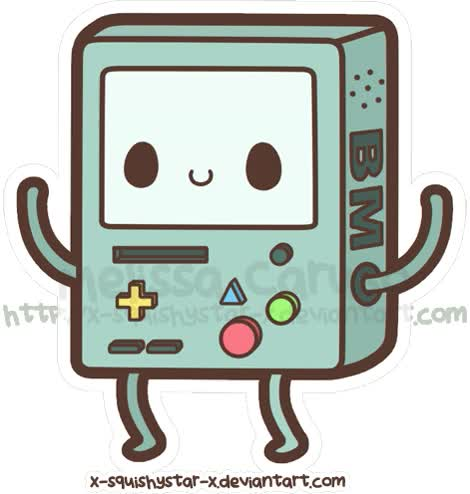 Watch and share Squishy Beemo By X-SquishyStar-x On DeviantART animated stickers on Gfycat
