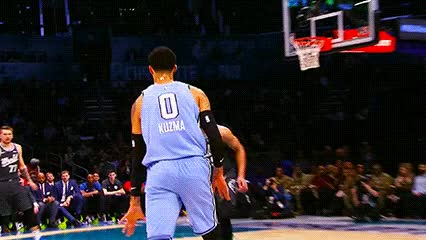 Watch and share Kyle Kuzma And Donovan Mitchell — 2019 Rising Stars Challenge GIFs by Off-Hand on Gfycat
