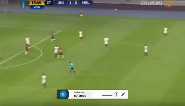 Watch and share Gol De Jose Carlos Fernandez | Universitario 2-1 Melgar | Semifinal Ida GIFs on Gfycat