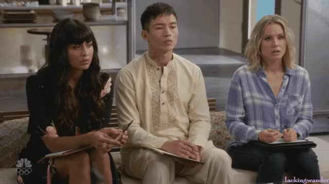 Watch and share The Good Place GIFs by somberorchestra on Gfycat