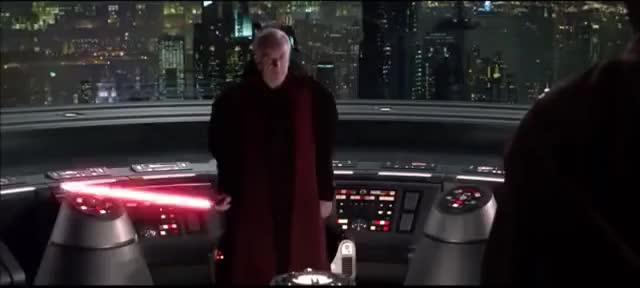 "Watch and share Darth Sidious/Emperor Palpatine - ""It's Treason Then"" GIFs on Gfycat"