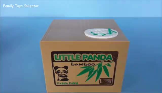 Watch and share Funny Kids Saving Box Cat Stealing Coin Piggy Bank By Mischief Itazura GIFs on Gfycat