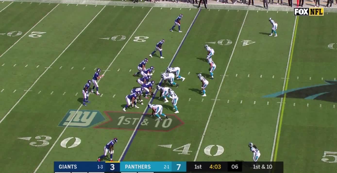 Carolina Panthers, football, Week Five--Donte Jackson Bites On Double Move Eli Misses GIFs