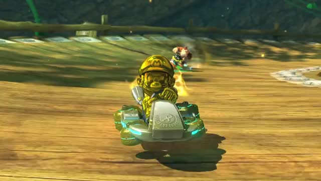 Watch and share Mario Kart 8 Deluxe GIFs and Gold Mario Secret GIFs by Mr. Panda on Gfycat