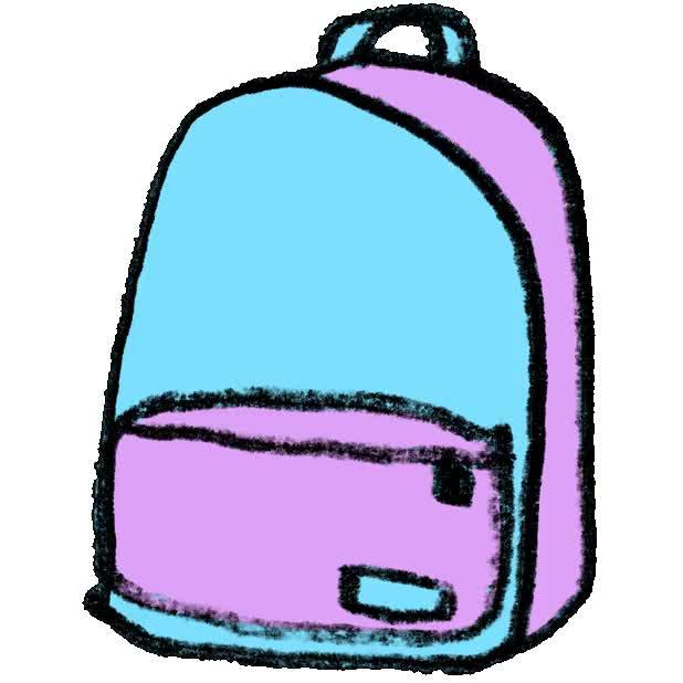 Днем, картинка анимашка портфель