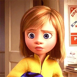 Silent Queue, disneyedit, inside out, insideoutedit, pixaredit, riley's first date, Embarrassed emotions. GIFs