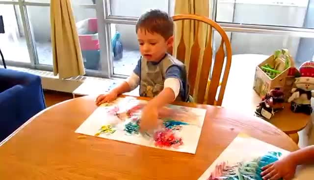 art, Kids Finger Painting GIFs