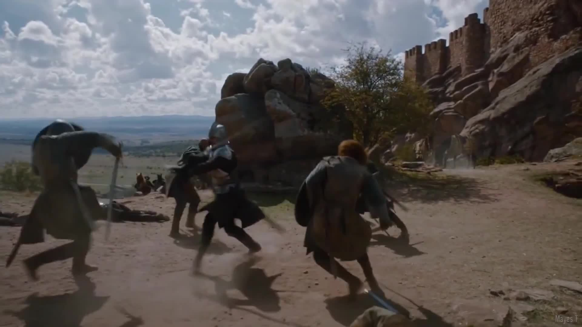 game, game of thrones, got, hbo, of, thrones;, Game of Thrones S06E03 - The Tower Of Joy (Full Scene) GIFs