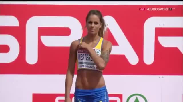 Watch and share Swedish Elin Westerlund Has A Nasty Fall But Keep Smiling GIFs on Gfycat