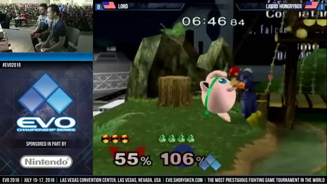 Lord (Falcon) vs. Hungrybox (Jigglypuff) - R2 Pools