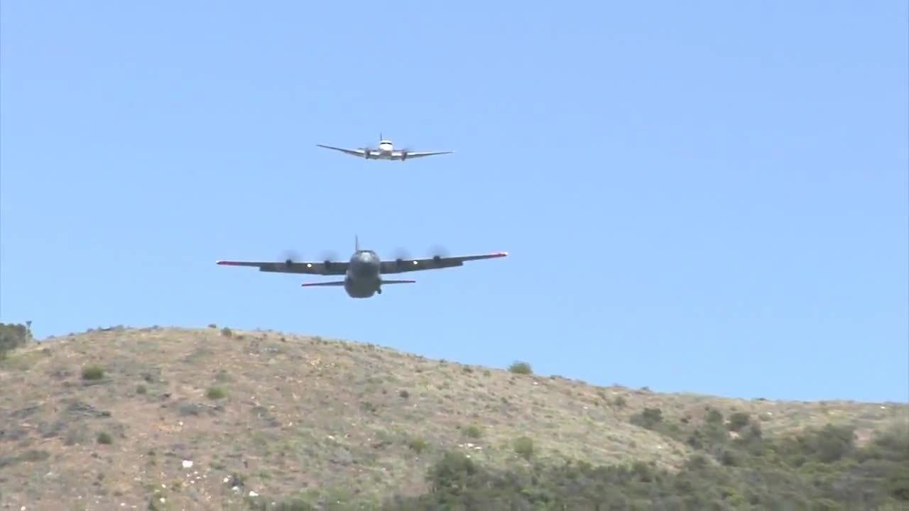 aviationgifs, C-130 Fire Fighting Training in California (reddit) GIFs