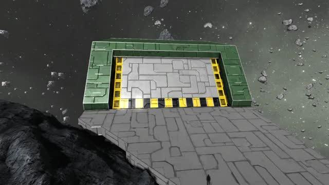 Watch and share Space Engineers: Panel Lift Hangar Door GIFs on Gfycat