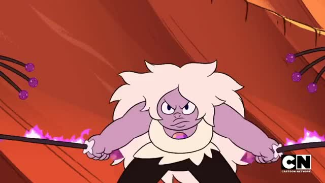 """Watch and share >Jasper [Durability] >Amethyst <Amethyst [Spin-dash] (Steven Universe S3E26 """"Earthlings"""") GIFs by revanche on Gfycat"""