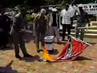 Watch Burning a Confederate Flag - June 17, 2000 GIF on Gfycat. Discover more related GIFs on Gfycat
