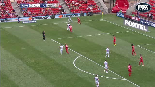 Marinkovic goal: Perth Glory v Adelaide United GIFs